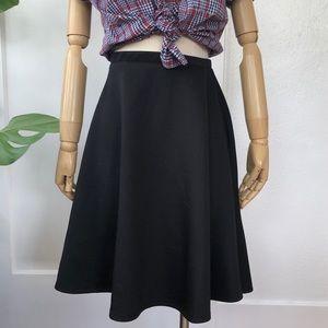 Neoprene Black Skater Skirt